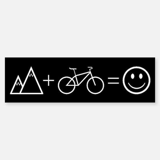 Happy Mountain Biking Bumper Bumper Bumper Sticker