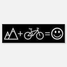 Happy Mountain Biking Bumper Car Car Sticker