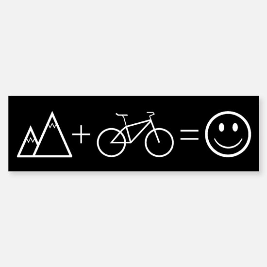 Happy Mountain Biking Bumper Car Car Sticker