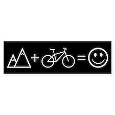Happy Mountain Biking Bumper Stickers