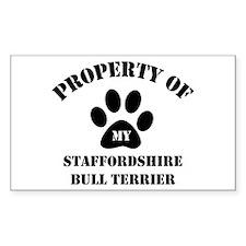 My Staffordshire Bull Terrier Sticker (Rectangular