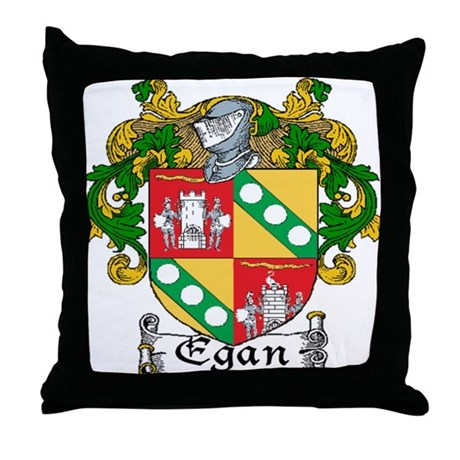 Egan Coat of Arms Throw Pillow