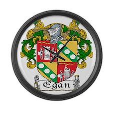 Egan Coat of Arms Large Wall Clock