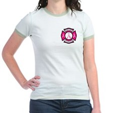 Cute Firefighter breast cancer T