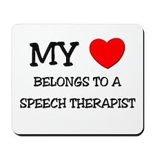 My Heart Belongs To A SPEECH THERAPIST Mousepad