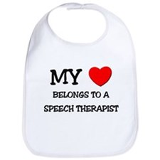 My Heart Belongs To A SPEECH THERAPIST Bib