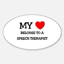 My Heart Belongs To A SPEECH THERAPIST Decal