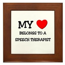 My Heart Belongs To A SPEECH THERAPIST Framed Tile