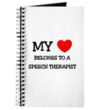 My Heart Belongs To A SPEECH THERAPIST Journal