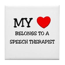 My Heart Belongs To A SPEECH THERAPIST Tile Coaste