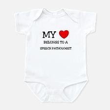 My Heart Belongs To A SPEECH PATHOLOGIST Infant Bo
