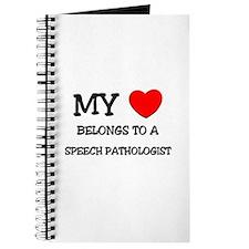 My Heart Belongs To A SPEECH PATHOLOGIST Journal