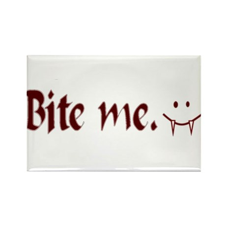 Bite Me Rectangle Magnet (10 pack)