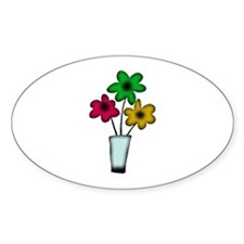 Just The Flowers Oval Decal