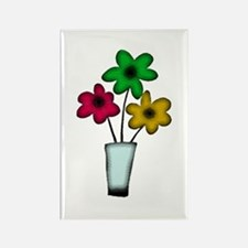 Just The Flowers Rectangle Magnet