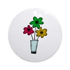 Just The Flowers Ornament (Round)