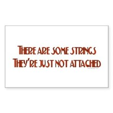 No Strings Attached Rectangle Decal
