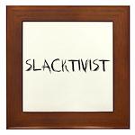 Slacktivist Framed Tile