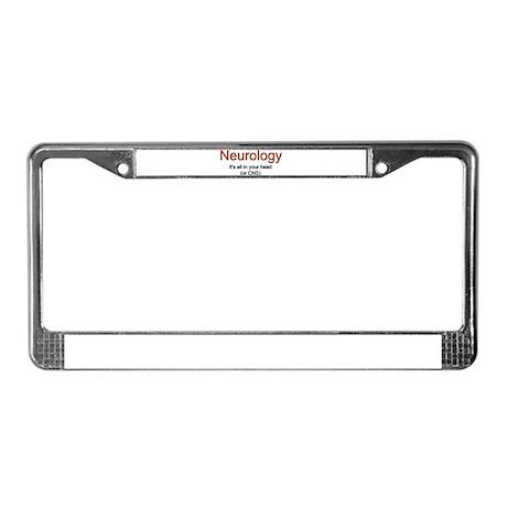 Neurology License Plate Frame