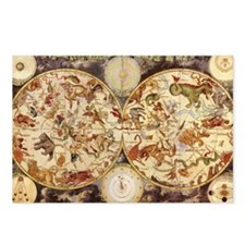 Vintage Celestial Map Postcards (Package of 8)