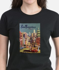 Vintage Travel Poster San Francisco Tee