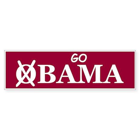 Go Alabama Bumper Sticker