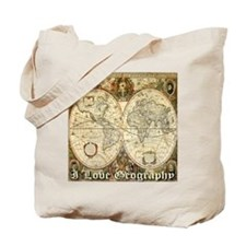 I Love Geography Tote Bag