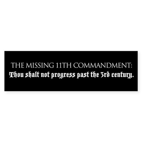 Missing Commandment bumper sticker