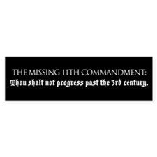 Missing Commandment bumper sticker