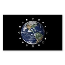 World Religions Rectangle Decal