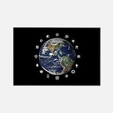 World Religions Rectangle Magnet