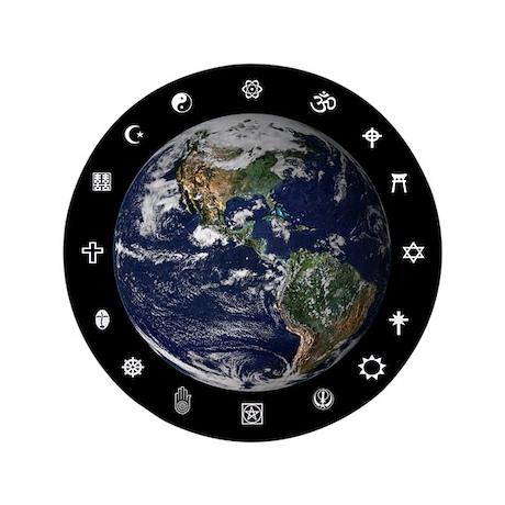 "World Religions 3.5"" Button"