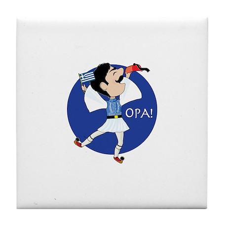 OPA! Tile Coaster