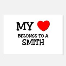 My Heart Belongs To A SMITH Postcards (Package of