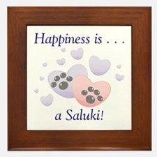 Happiness is...a Saluki Framed Tile