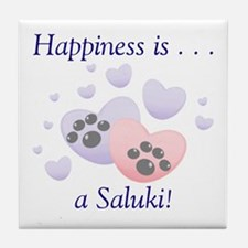 Happiness is...a Saluki Tile Coaster