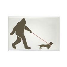Sas. & Dog Rectangle Magnet (10 pack)