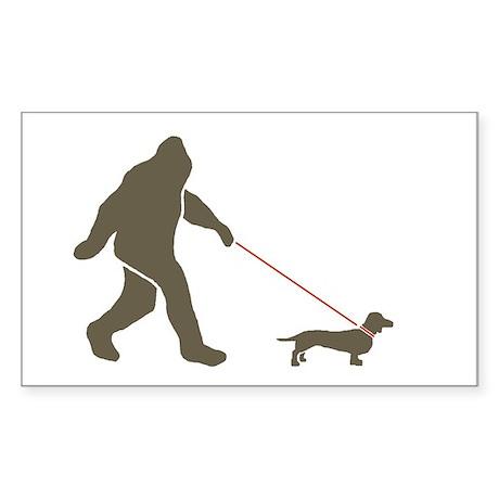 Sas. & Dog Rectangle Sticker