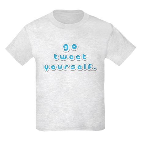 Go Tweet Yourself (by Deleriyes) Kids Light Tee