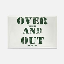 Over & Out Rectangle Magnet