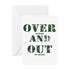 Over & Out Greeting Card
