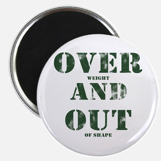 "Over & Out 2.25"" Magnet (10 pack)"