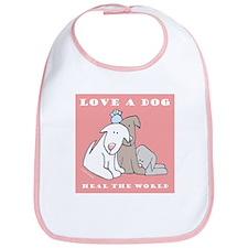 Love Rescue Puppies Bib