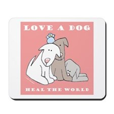 Love Rescue Puppies Mousepad