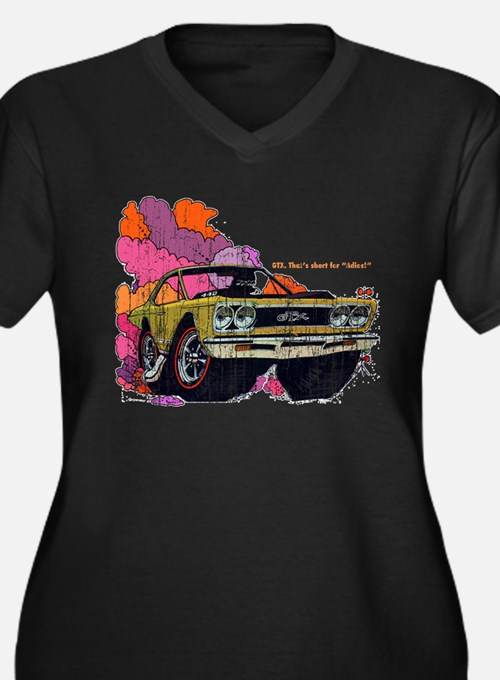 Plymouth GTX Illustration Women's Plus Size V-Neck