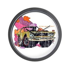 Plymouth GTX Illustration Wall Clock