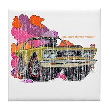 Plymouth GTX Illustration Tile Coaster