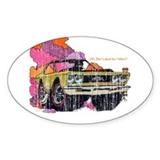 Plymouth GTX Illustration Oval Decal