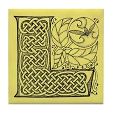 Celtic Letter L Tile Coaster