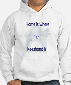 Home is where the Keeshond is Hoodie